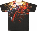 Avengers Heroes Attack Sublimated T-Shirt