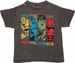 Avengers Hue Bars Charcoal Burnout Juvenile T Shirt