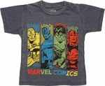 Avengers Hue Bars Navy Burnout Toddler T Shirt