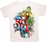 Avengers Intense Three T Shirt
