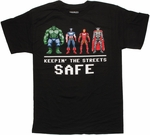 Avengers Keepin Safe 8 Bit T Shirt