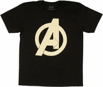Avengers Logo Soft T Shirt Sheer