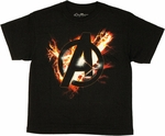 Avengers Movie Blast Logo Youth T Shirt