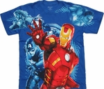 Avengers Movie Group Collage Youth T Shirt