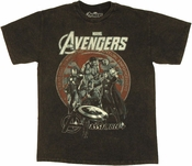 Avengers Movie Group Seal T Shirt