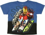 Avengers Movie Panels Juvenile T Shirt