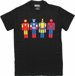 Avengers New Hero Icons Black T Shirt