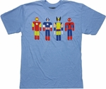 Avengers New Hero Icons Blue T Shirt Sheer