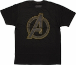 Avengers Outlined Glitter Logo T Shirt Sheer