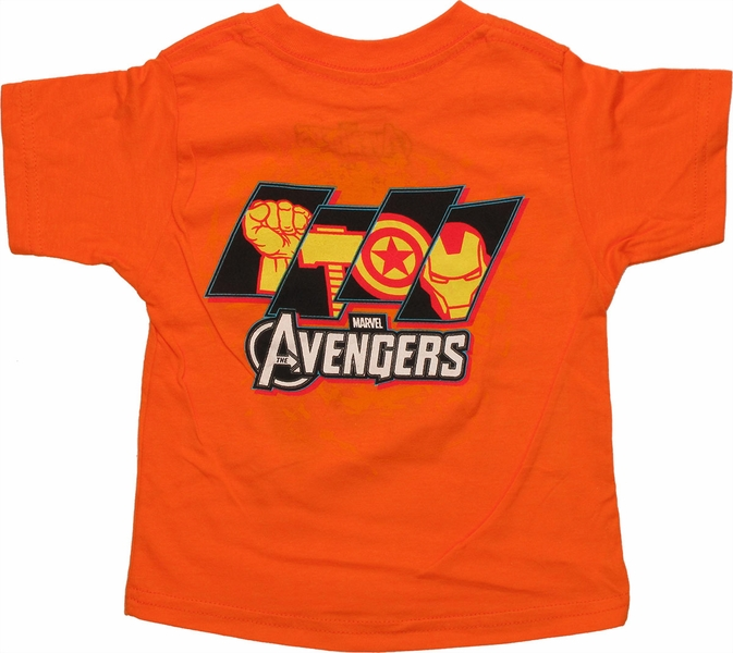 Avengers Quad Circle Orange Infant T Shirt