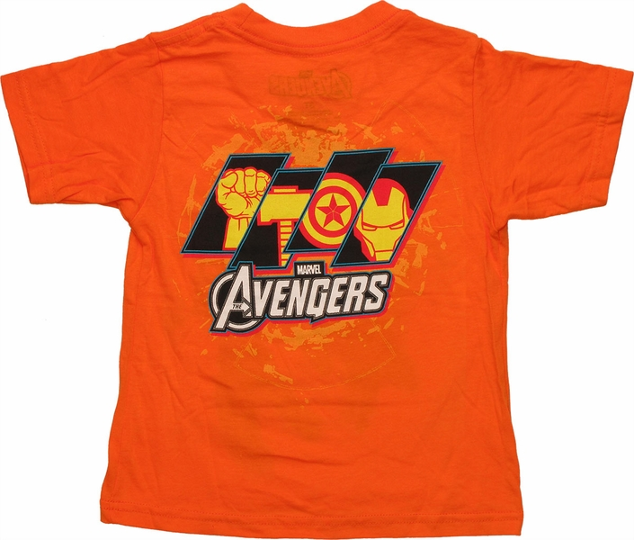 Avengers Quad Circle Orange Toddler T Shirt