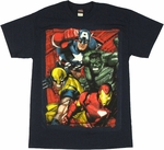 Avengers Quad Painted T Shirt