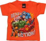 Avengers Ready Action Orange Toddler T Shirt