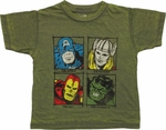 Avengers Skills Burnout Toddler T Shirt