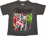 Avengers Split Quad Group Juvenile T-Shirt
