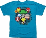 Avengers Toys Bust Out Blue Youth T Shirt
