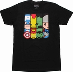 Avengers Toys Panels T Shirt Sheer