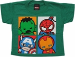 Avengers Toys Quad Heather Green Toddler T Shirt