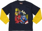 Avengers Trio Splatter Long Sleeve Juvenile T Shirt
