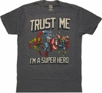 Avengers Trust Me Hero Navy T Shirt Sheer