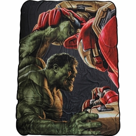 Avengers Ultron Hulk Vs Hulkbuster Fleece Blanket