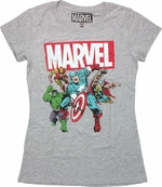 Avengers Under Marvel Logo Baby Tee