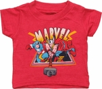 Avengers Under Name Red Infant T Shirt