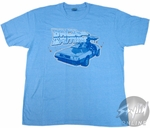 Back to the Future DeLorean Blue T-Shirt Sheer