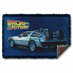 Back to the Future Delorean Throw Blanket