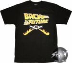 Back To The Future Flames T-Shirt