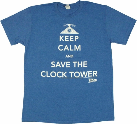 Back to the Future Keep Calm Save T Shirt Sheer
