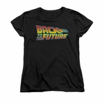 Back to the Future Logo Ladies T Shirt