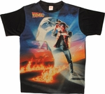 Back to the Future Poster Sublimated T Shirt Sheer