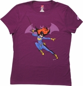 Batgirl Attitude Swing Ladies T-Shirt