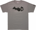 Batman 75 Years Logo T Shirt