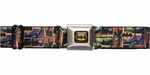 Batman Action Poses Tiles Seatbelt Belt