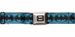 Batman Black Logo Blue Seatbelt Belt