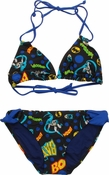 Batman Collage Triangle Hipster Bikini Swimsuit