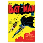 Batman Comic Tin Sign