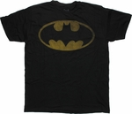 Batman Faded Logo Black T Shirt Sheer