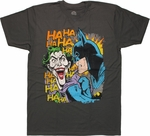 Batman Joker Duo Laugh Charcoal T Shirt Sheer