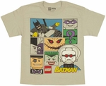 Batman Lego Collage Youth T Shirt
