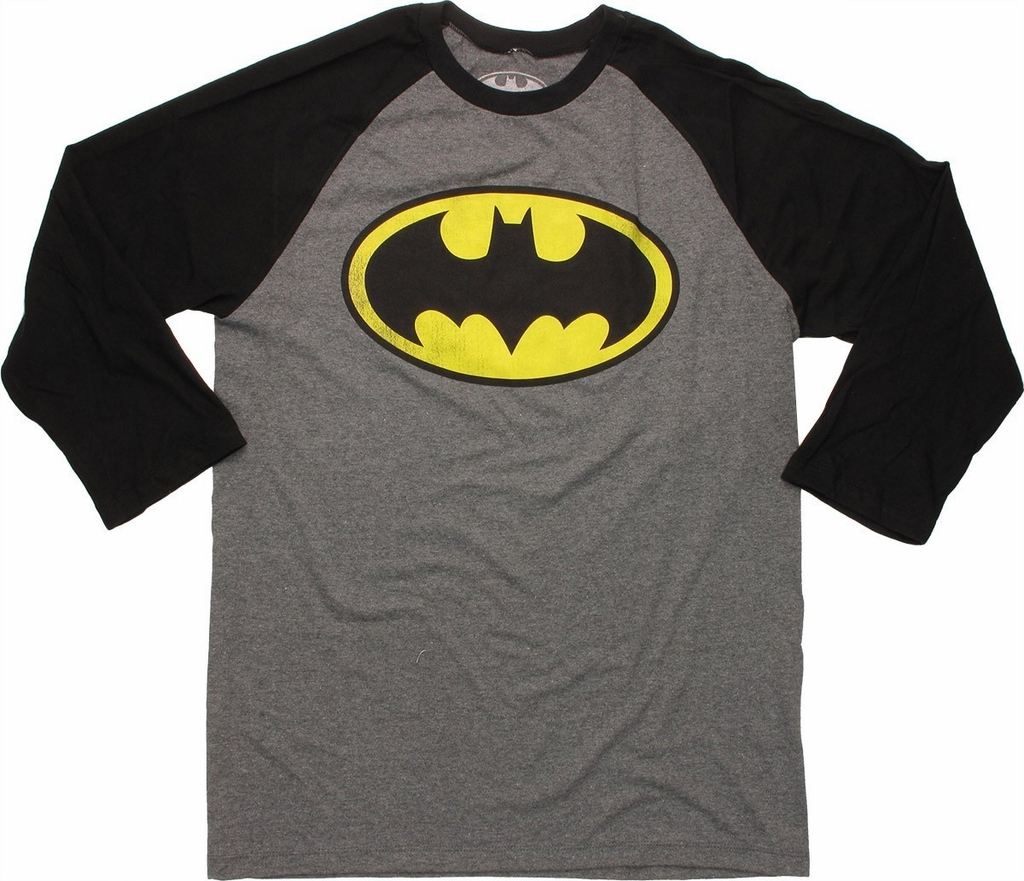 Batman Logo 3/4 Raglan T Shirt