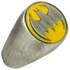 Batman Logo Brushed Signet Ring