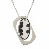 Batman Logo Cutout Dog Tag Necklace