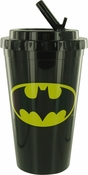 Batman Logo Flip Straw Travel Cup