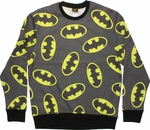 Batman Logo Jumble Sublimated Sweatshirt