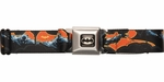 Batman Logo Orange Bats Seatbelt Belt
