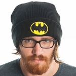 Batman Logo Ribbed Cuff Beanie