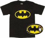 Batman Logo T Shirt in Tin
